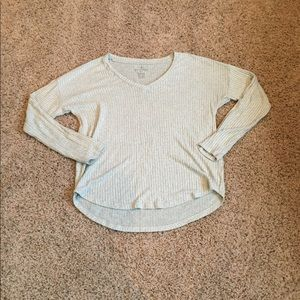 Aerie Soft and Sexy Rib V Neck Pullover, XL